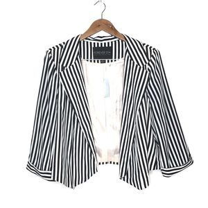 NWT Striped Pointed- Hem Blazer